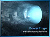 PowerPoint Template - high technology tunnel 3D concepts scifi image