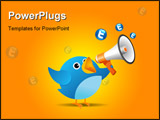 PowerPoint Template - Illustration of Twitter Bird on white background