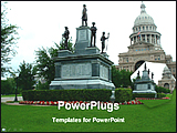 PowerPoint Template - a viewed of a texas city