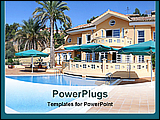 PowerPoint Template - a luxury villa with swimming pool
