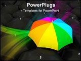 PowerPoint Template - Color umbrella over black