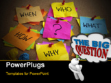 PowerPoint Template - uncertainty brainstorming or decision making concept