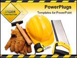 PowerPoint Template - The hard hat gloves hammer and tape-measure