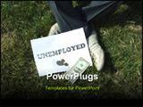 PowerPoint Template - an unemployed man sitting on the grass