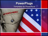 PowerPoint Template - boy scout uniform and united states flag