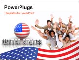 PowerPoint Template - Symbol of USA. 3d Very beautiful three-dimensional illustration.