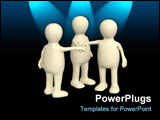 PowerPoint Template - Conceptual image - unity. 3d rendering illustration
