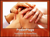PowerPoint Template - Photo of human hands on top of each other on a white background
