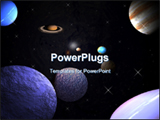 PowerPoint Template - Planets in orbit