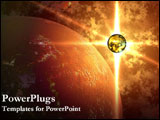 PowerPoint Template - 3D rendering of the universe.