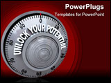 PowerPoint Template - A safe lock dial with the words Unlock Your Potential on it