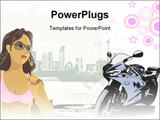 PowerPoint Template - Girl with building background