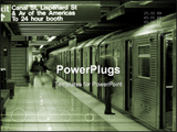 PowerPoint Template - canal street station in downtown