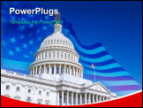 PowerPoint Template - US Capitol over blue sky, Washington DC