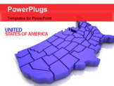 PowerPoint Template - Map of USA. 3d Very beautiful three-dimensional illustration figure