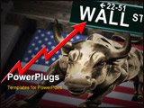 PowerPoint Template - Conceptual bull market and New York stock exchange