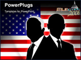 PowerPoint Template - the two candidates of the US election 2008