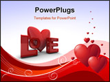 PowerPoint Template - Abstract Valentines Day background with hearts. Place for copy\text