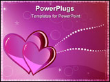 PowerPoint Template - Two hearts in pink tones valentines greeting card