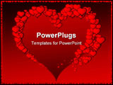 PowerPoint Template - red valentine