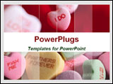 PowerPoint Template - I Do heart candy and valentine heart candy of different colors.