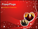PowerPoint Template - vector valentine card - stars and hearts