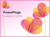 PowerPoint Template - Vector Flower Background. Easy to edit. All pieces are separated.