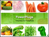PowerPoint Template - a collage of nine pictures of different vegetables