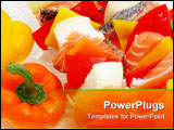 PowerPoint Template - salmon and veggies on a skewer