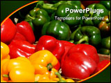 PowerPoint Template - fruits and vegetables for sale at local outdoor market florida
