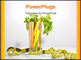 PowerPoint Template - healthy vegetables in a glass surrounded by measuring tape