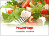 PowerPoint Template - vegetable salad with cheese tomato pepper lettuce parsley