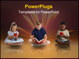 PowerPoint Template - Very beautiful three-dimensional illustration figure. Target. 3d