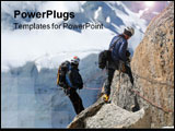 PowerPoint Template - mountain sport climbers mont-blanc motivation extreme trek trekkin