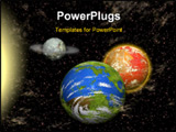 PowerPoint Template - View of the universe with several planets