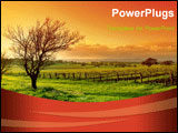 PowerPoint Template - a iamge of fresh Vineyard Sunrise