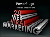 PowerPoint Template - Web 2.0 Viral Marketing Method Online in 3d