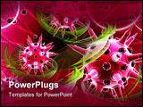 PowerPoint Template - Digital illustration of Flu virus in colour background