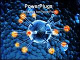 PowerPoint Template - digital illustration of virus in digital background