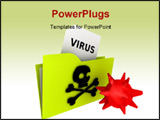 PowerPoint Template - illustration of a computer virus folder rendering image