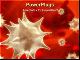 PowerPoint Template - Viruses floating among erythrocytes - 3d render