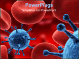 PowerPoint Template - 3d rendered illustration with virus and blood cells