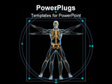PowerPoint Template - Body and skeleton in vitruvian man