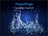 PowerPoint Template - water column spatter out of the surface