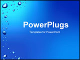PowerPoint Template - Blue background with waterdrops