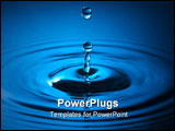 PowerPoint Template - close up of a drop of water in blue colors