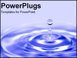 PowerPoint Template - Drop of water creating ripple effect.