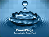 PowerPoint Template - close-up of water droplets splashing into a calm body of water.