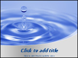 PowerPoint Template - lose up of water drop. Ideal template for presentations on water purifications, water resources and