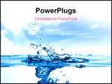 PowerPoint Template - Close up shot of a water drops